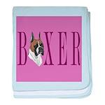 Boxer Banner baby blanket