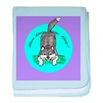 Siberian Husky Nonsense! baby blanket