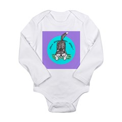 Siberian Husky Nonsense! Long Sleeve Infant Bodysu