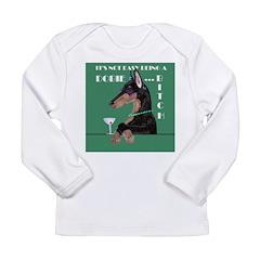 Doberman Bitch Long Sleeve Infant T-Shirt