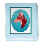 Red Doberman Pinscher baby blanket