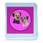 Border Terriers baby blanket