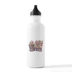 3 Little Yorkies Water Bottle
