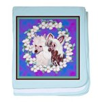 Chinese Crested Pair baby blanket