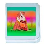 Cute English Bulldog Design baby blanket