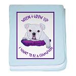 English Bulldog Puppy baby blanket