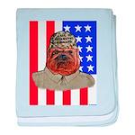 Bullldog Marine baby blanket