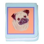 Typical Chinese Pug baby blanket