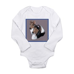 Smooth and Rough Collie Long Sleeve Infant Bodysui