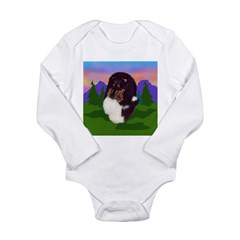 Tri colored Sheltie Long Sleeve Infant Bodysuit