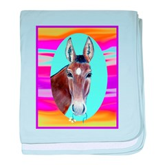 Horses and Mules baby blanket