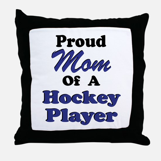Mom Hockey Player Throw Pillow