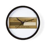 Chocolate Loading Wall Clock