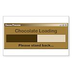 Chocolate Loading Sticker (Rectangle 50 pk)
