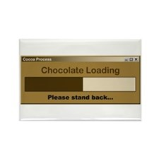 Chocolate Loading Rectangle Magnet