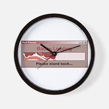 Bacon Loading Wall Clock