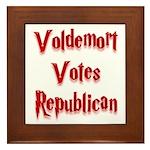 Voldemort Votes Republican Framed Tile