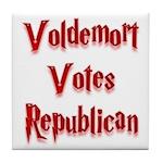 Voldemort Votes Republican Tile Coaster