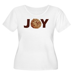 Cookie Joy Women's Plus Size Scoop Neck T-Shirt