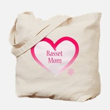 Basset Pink Heart Tote Bag