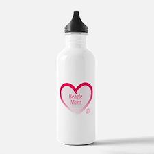 Beagle Pink Heart Water Bottle