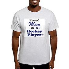 Mom 2 Hockey Players T-Shirt