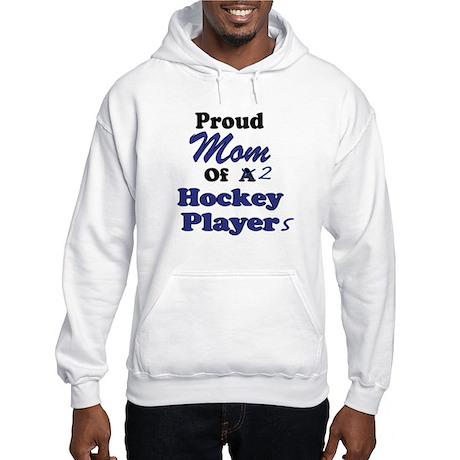 Mom 2 Hockey Players Hooded Sweatshirt