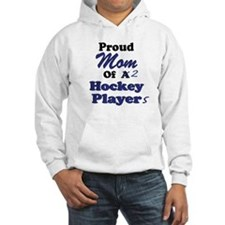 Mom 2 Hockey Players Hoodie