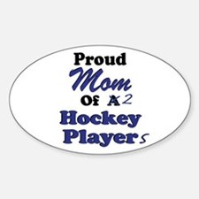 Mom 2 Hockey Players Decal
