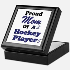 Mom 2 Hockey Players Keepsake Box