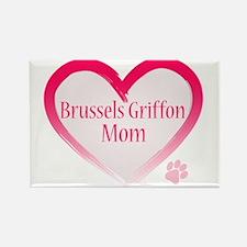 Brussels Griffon Pink Heart Rectangle Magnet