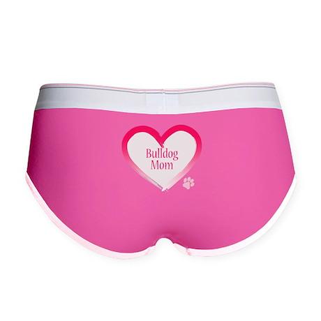 Bulldog Pink Heart Women's Boy Brief