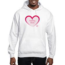 Bulldog Pink Heart Jumper Hoodie