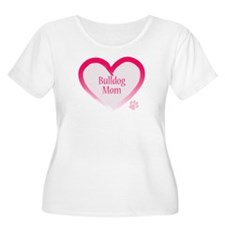 Bulldog Pink Heart T-Shirt
