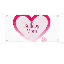 Bulldog Pink Heart Banner