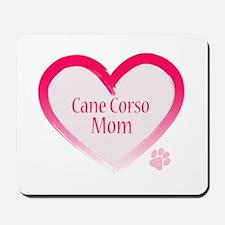 Cane Corso Pink Heart Mousepad