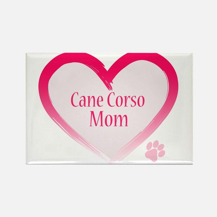 Cane Corso Pink Heart Rectangle Magnet