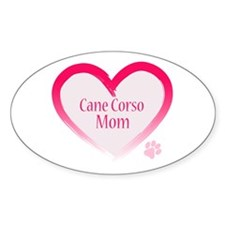 Cane Corso Pink Heart Decal