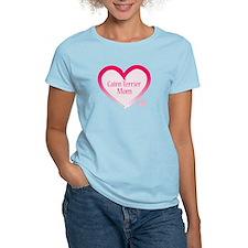 Cairn Terrier Pink Heart T-Shirt