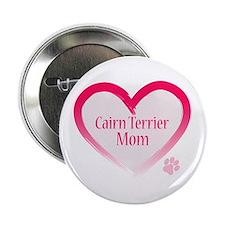 """Cairn Terrier Pink Heart 2.25"""" Button"""