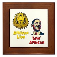 Obama Lyin' African Framed Tile
