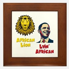 Obama Lyin' African Framed Tile