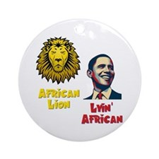 Obama Lyin' African Ornament (Round)