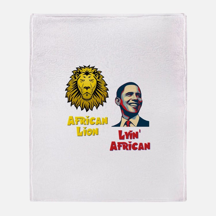 Obama Lyin' African Throw Blanket
