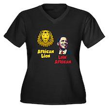 Obama Lyin' African Women's Plus Size V-Neck Dark