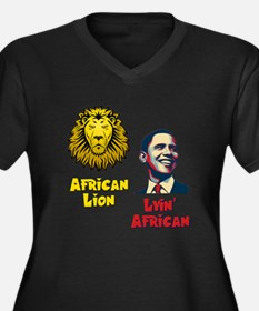 Obama Lyin' African Women's Plus Size V-Neck Dark