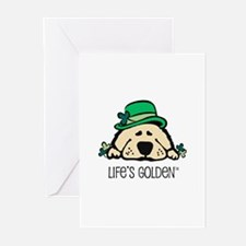 St. Patrick's Golden Greeting Cards (Pk of 10)