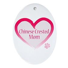 Pug Mom Oval Ornament
