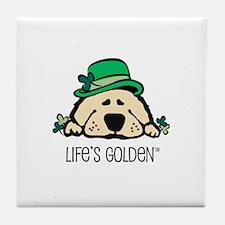 St. Patrick's Golden Tile Coaster