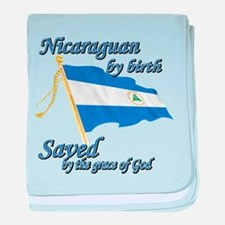 Nicaraguan by birth baby blanket